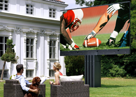 outdoors video screen